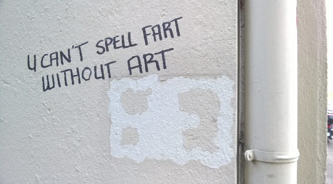 you can't spell fart without art